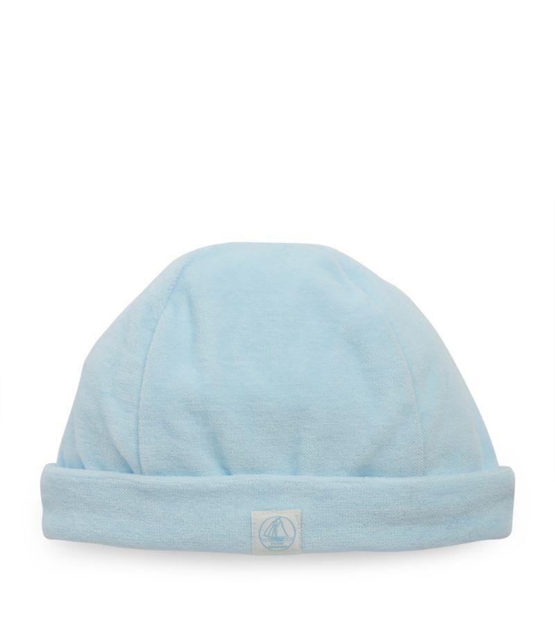 Petit Bateau Cotton Velour Hat (0-12 Months)