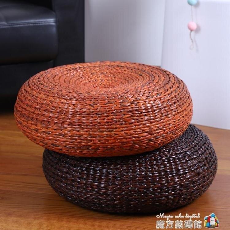 草編蒲團坐墊加厚榻榻米坐墩日式地板墊子藤編禪修打坐墊家用蒲墊