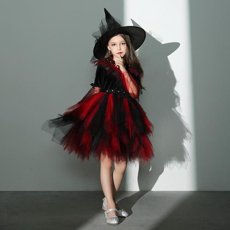萬聖節服裝 萬聖節角色扮演cosplay女巫婆演出服兒童服裝女童化妝舞會公主裙 秋冬新品特惠