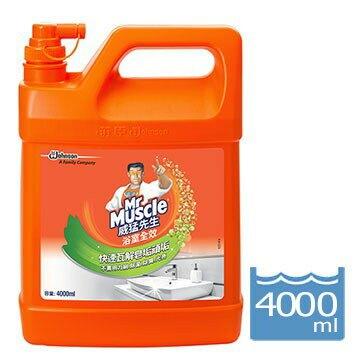 (箱購免運) 威猛先生  浴室清潔劑 (4000ml*4罐/箱)加侖桶 浴室