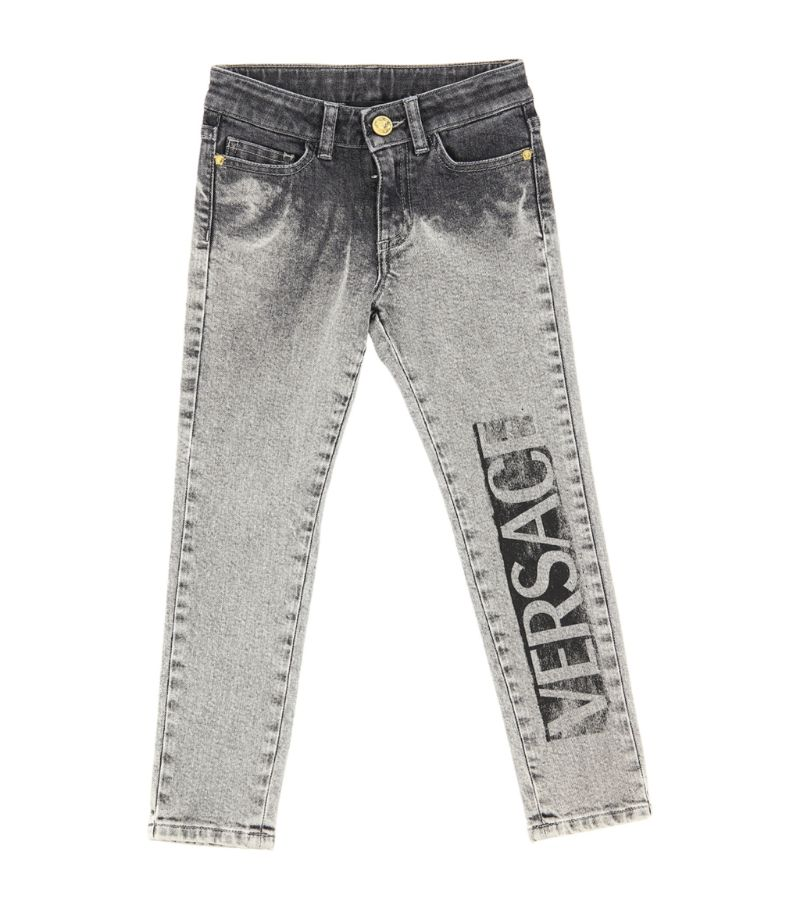 Young Versace Distressed Logo Jeans (6-14 Years)