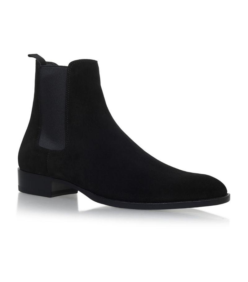 Saint Laurent Suede Wyatt Chelsea Boots