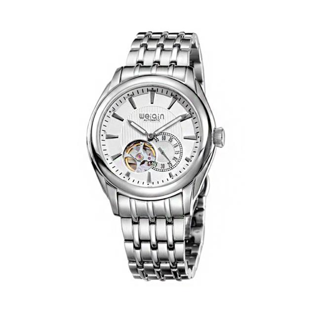 WEIQIN 手錶男機械錶全自動男士手錶鏤空商務日曆腕錶-W2153