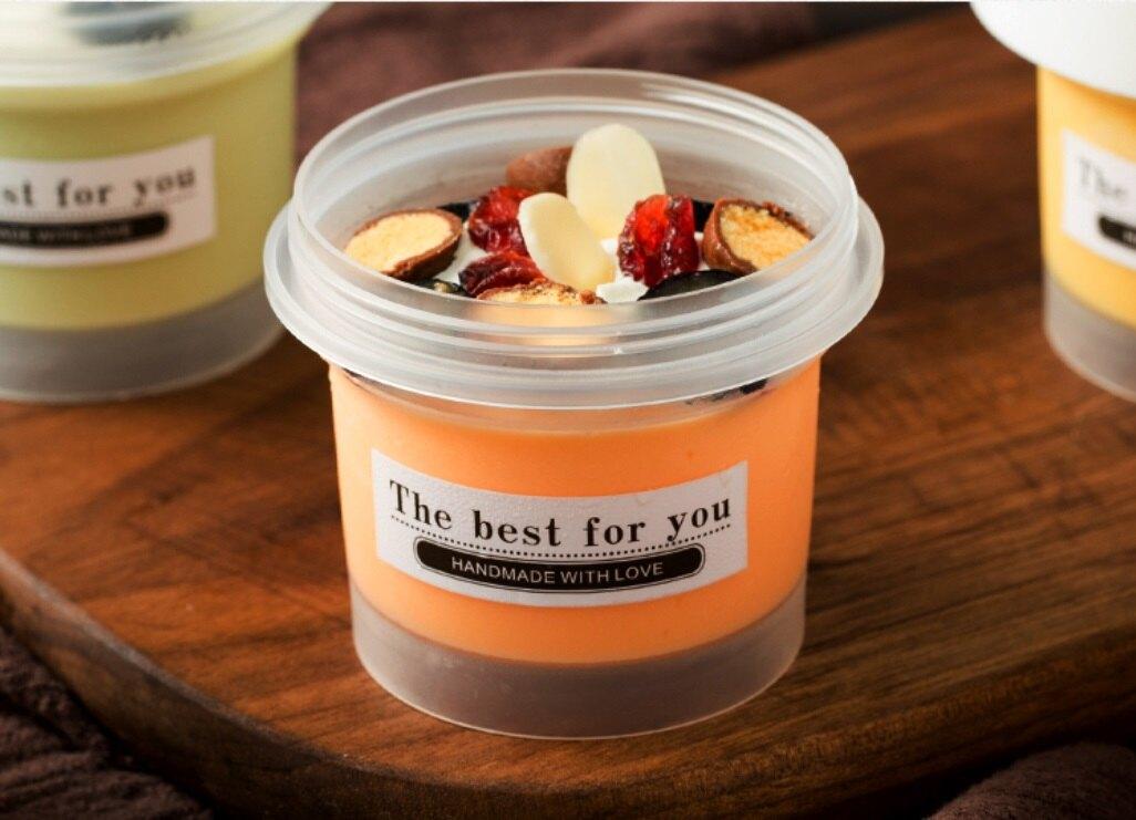 【嚴選SHOP】100ML 白蓋冰淇淋盒 2粒/4粒配套包裝盒 帶蓋塑膠杯 布丁奶酪酸奶容器 奶凍果凍包裝盒【C121】