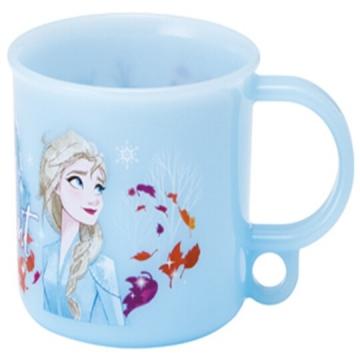 迪士尼 冰雪奇緣 日製單耳塑膠小水杯《藍.仰望》200ml.漱口杯.茶杯