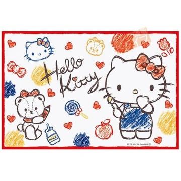 Hello Kitty 野餐墊 單人 海灘墊 防水墊 防潮地墊 60x90cm (紅白 塗鴉)