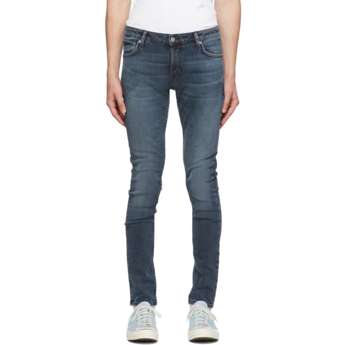 Nudie Jeans 蓝色 Skinny Lin 有机棉牛仔裤