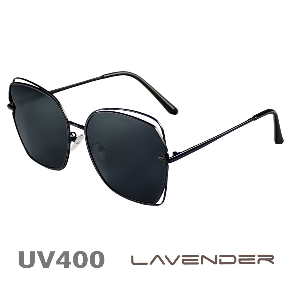 Lavender偏光太陽眼鏡 超輕不規則雷朋款 幻影黑 8065 C4-1