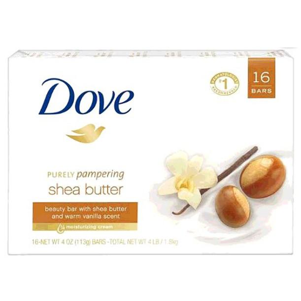 Dove 乳木果油香皂 113公克 16入 W750953