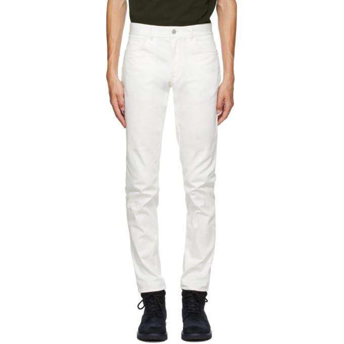 Moncler 白色徽标口袋牛仔裤