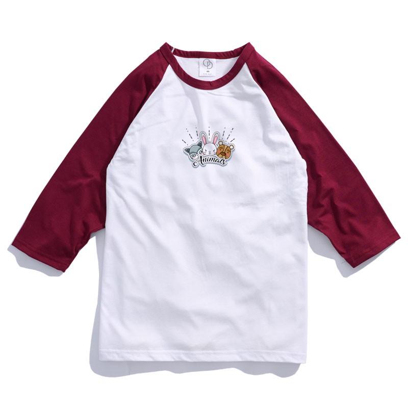 ONE DAY 台灣製 157C314棒球七分T 寬鬆衣服 短T 短袖衣服 衣服 T恤 寬鬆短袖 短袖T恤 落肩短T