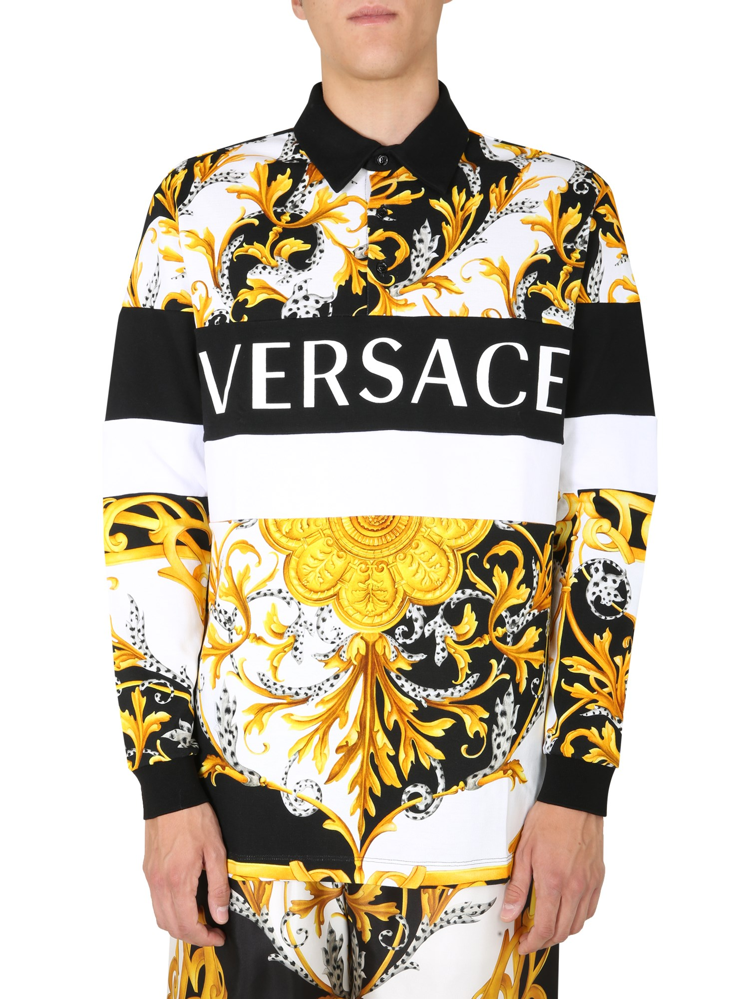 versace long sleeved polo shirt