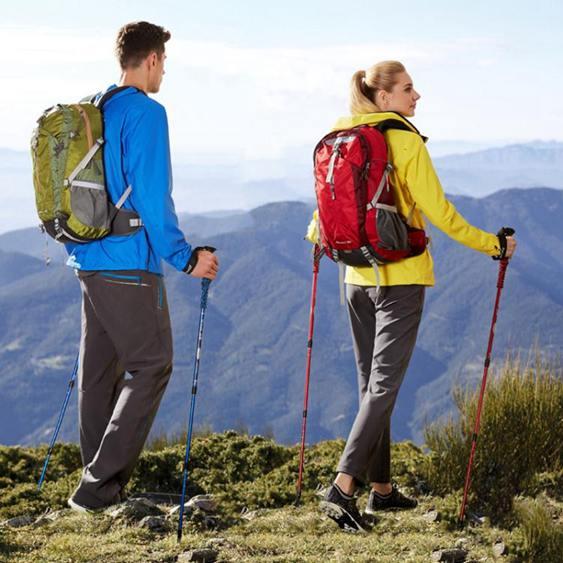戶外登山杖多功能手杖折疊伸縮爬山棍裝備直柄超輕行山杖