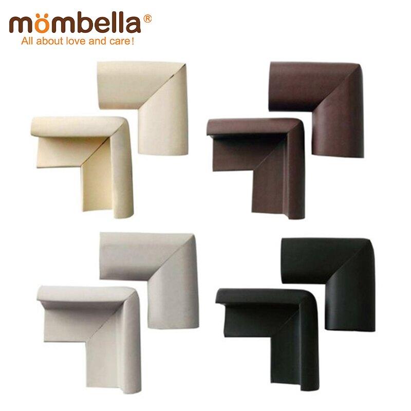 英國【mombella】Q彈防撞保護角8入(4色可選) 桌角保護 防撞保護套 兒童防護角-米菲寶貝