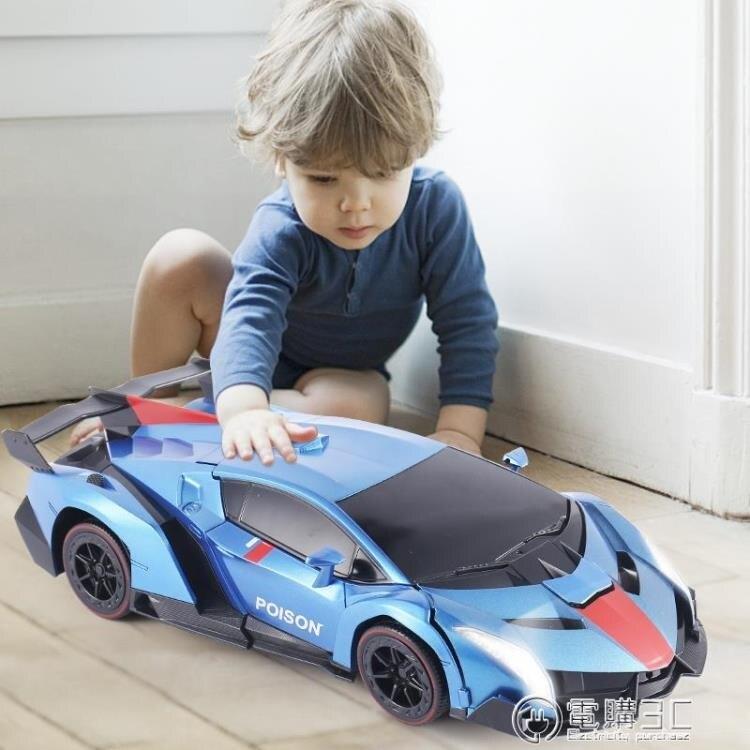 遙控變形車手勢感應變形汽車金剛遙控車機器人充電動男孩兒童玩具