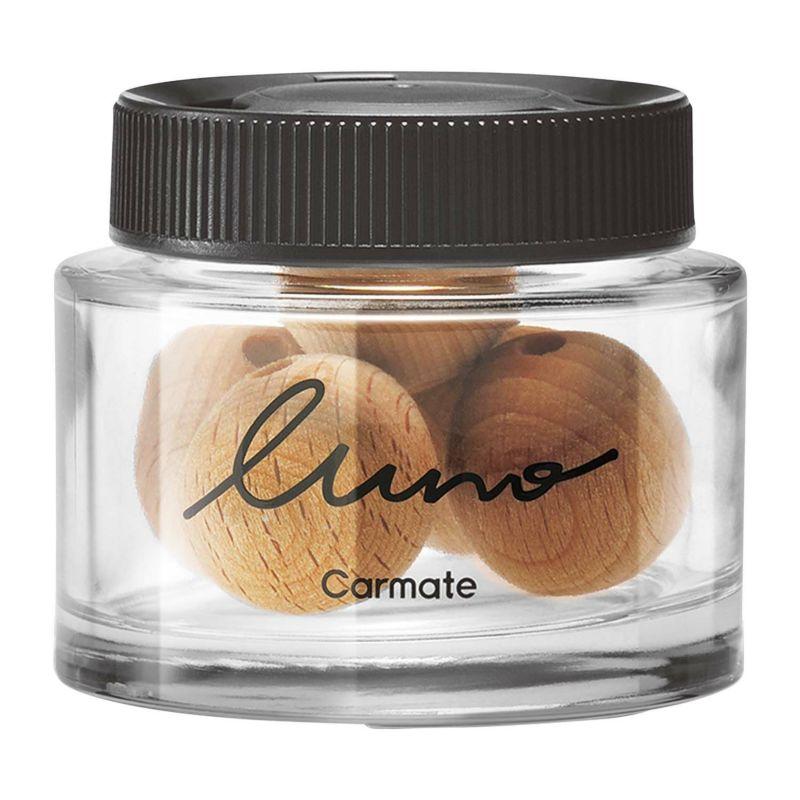 權世界@汽車用品 日本CARMATE LUNO 天然固體香木球 香水消臭芳香劑 G1771-四種味道選擇
