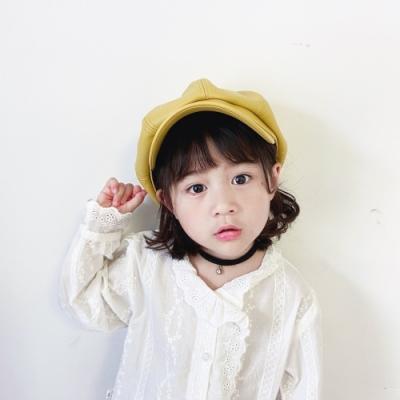 Baby童衣 可愛兒童皮質貝雷帽 報童帽 畫家八角帽 88558