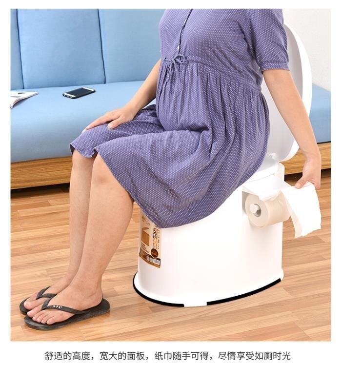夯貨折扣!老人坐便器孕婦行動馬桶老年人坐便椅成人便攜家用塑料座便器防臭
