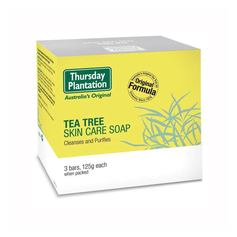 澳洲 Thursday Plantation 星期四農莊 茶樹純淨皂 (3入) 125gx3 洗臉皂 身體皂 肥皂