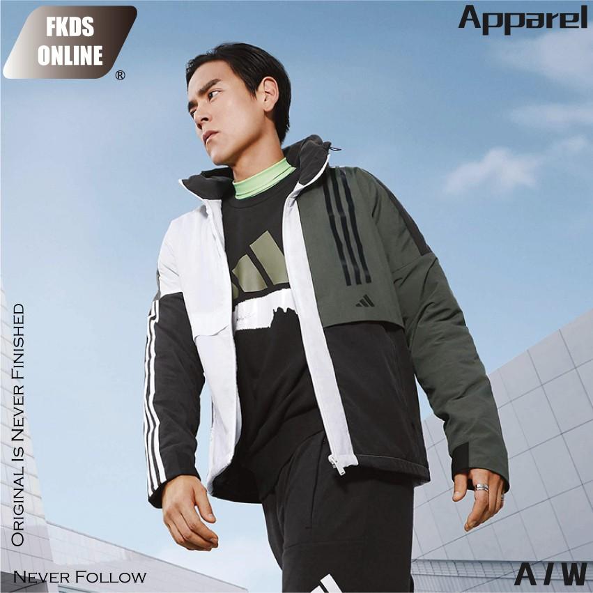 Adidas愛迪達 拼接設計 彭于晏 風衣外套 防風外套 休閒外套 運動外套 連帽外套 外套 FM9398 廠商直送