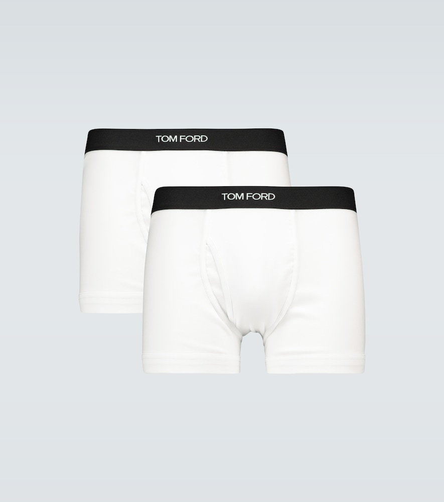 Stretch-cotton boxer briefs