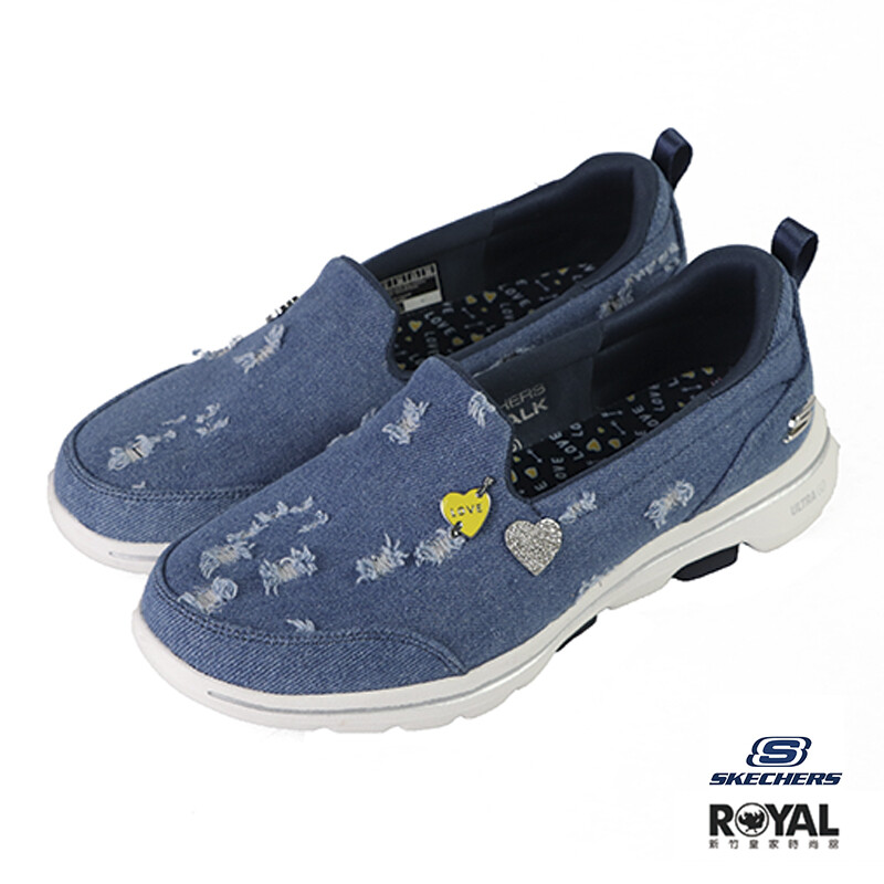 skechers go walk 藍色 帆布 休閒運動鞋 女款no.j0563