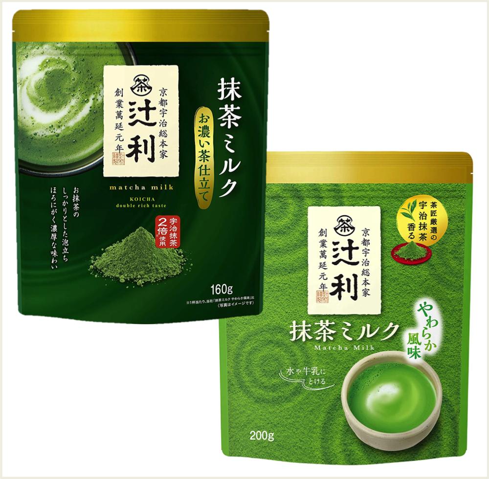 潼漾小舖 辻利 片岡 特濃抹茶牛奶粉 160g / 抹茶牛奶粉 200g