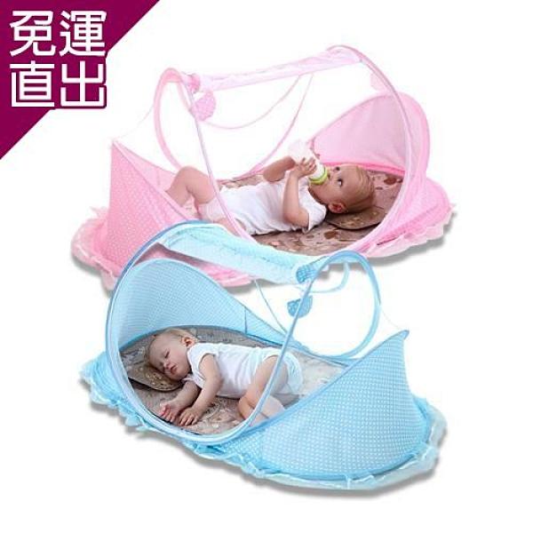 shop4fun 加大透氣可折疊寶寶蚊帳 /紅 藍【免運直出】