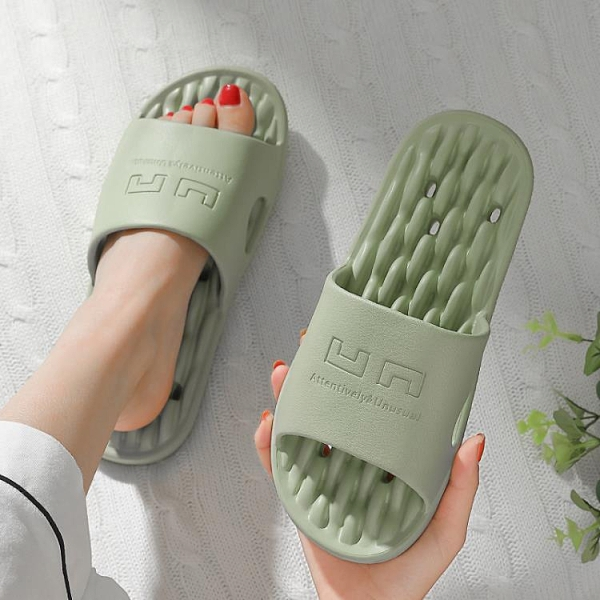 浴室拖鞋女夏家用速干防滑漏水居家室內衛生間厚底托鞋洗澡男 【中秋節】