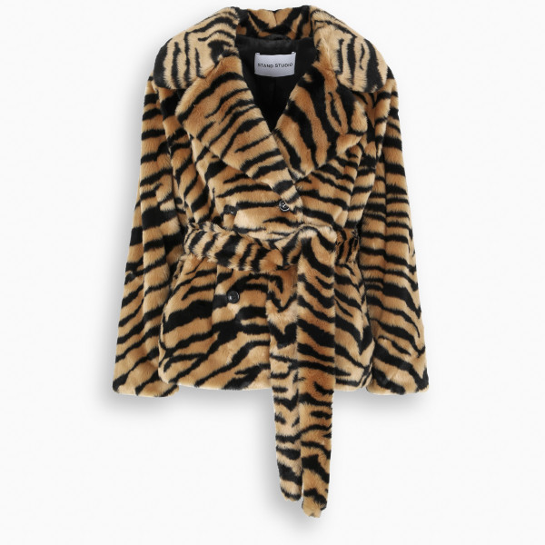 STAND STUDIO Tiger-motif Tiffany coat