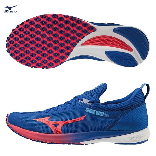 MIZUNO WAVE DUEL 2 男鞋 慢跑 路跑 馬拉松 高抓力 耐磨 藍【運動世界】U1GD206062