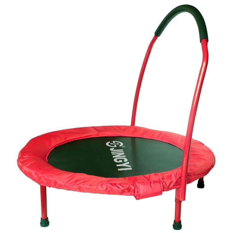 【降價兩天】蹦蹦床兒童家用蹦床室內跳跳床可折疊織帶小蹦床寶寶彈跳床帶扶手