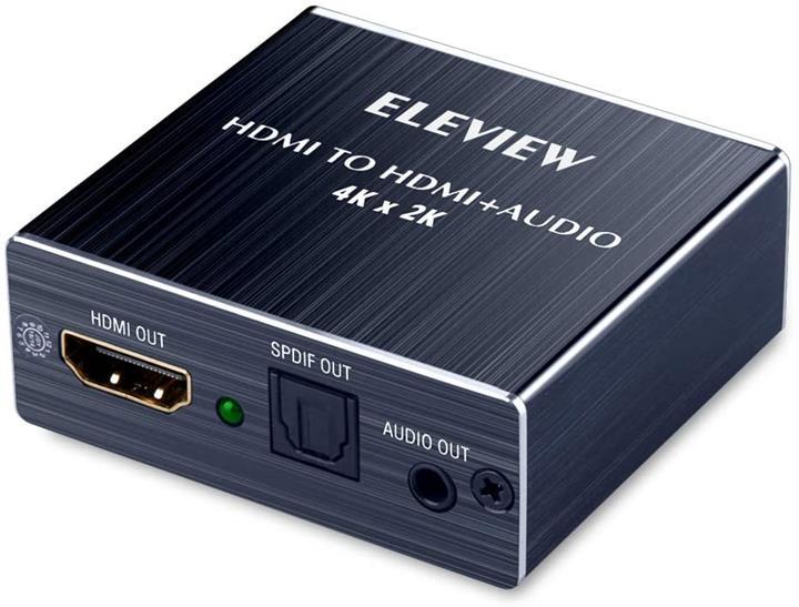 """【日本代購】ELEVIEW 4K HDMI 音訊分離""""HDMI輸入 SPDIF+3.5mm音訊輸出"""