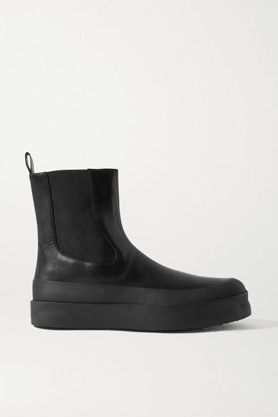 Neous - Zaniah 皮革切尔西靴 - 黑色 - IT36