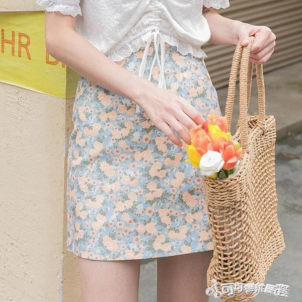 高腰a字碎花半身裙女夏短款2020年夏季新款潮冷淡風短裙顯瘦裙子 Cocoa
