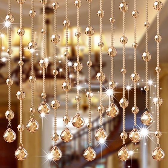 珠簾門簾隔斷簾客廳玄關裝飾珠?家用衛生間風水過道簾子新款水晶珠簾
