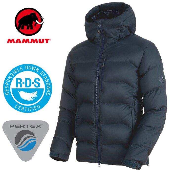 【Mammut 長毛象 瑞士】XERON 連帽羽絨外套 羽絨夾克 羽絨衣 連帽羽毛外套 頂級鵝絨 男款 海洋藍 (00702-5118) 【羽絨填充750FP】