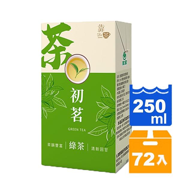 靠茶初茗綠茶250ml(24入)x3箱 【康鄰超市】
