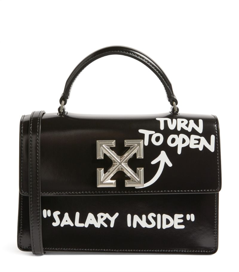 Off-White Leather Quotes 1.4 Jitney Bag