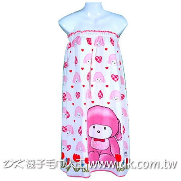 愛心娃娃熊浴裙 SPA用 過年送禮 【DK大王】