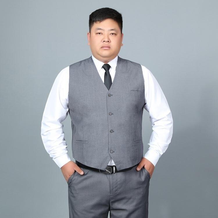 西裝馬甲 加肥加大碼男士西裝馬甲胖子商務正裝伴郎服襯衫馬甲-韓尚華蓮