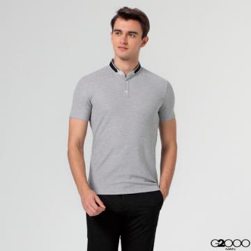 G2000素面網眼短袖POLO 衫-灰色