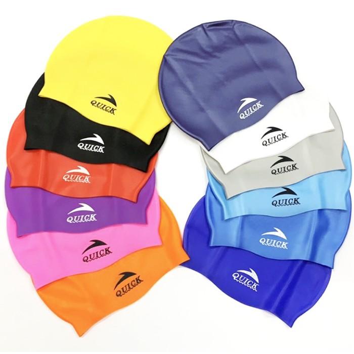 【水之星游泳用品】Quict 防水顆粒矽膠泳帽/頂(12色任選)