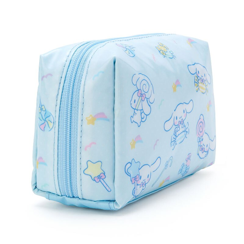 小禮堂 大耳狗 方形防水化妝包 盥洗包 小物包 隨身收納包 (淡藍 滿版)