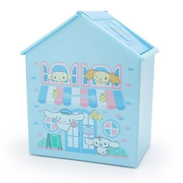 大耳狗 房屋造型塑膠平衡蓋收納箱《藍白》垃圾筒.置物箱