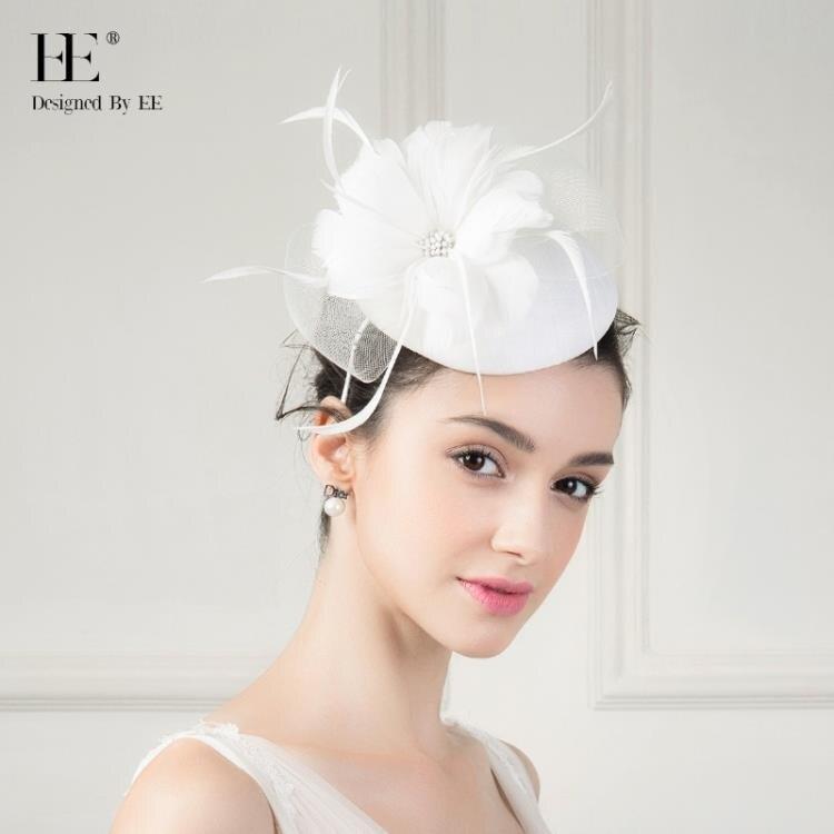 【免運快出】禮帽 優雅時尚帽子女英倫復古名媛 英式宴會小禮帽 百搭發飾 創時代 雙12購物節