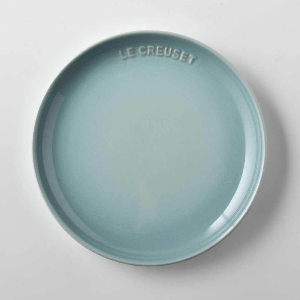 【法國LE CREUSET】 花蕾系列 餐盤 圓盤 17cm 海洋之花
