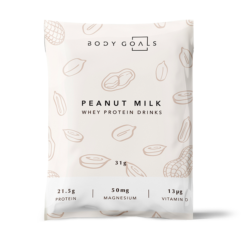 *嘖嘖爆款 [Body Goals] 乳清蛋白飲-花生牛奶口味