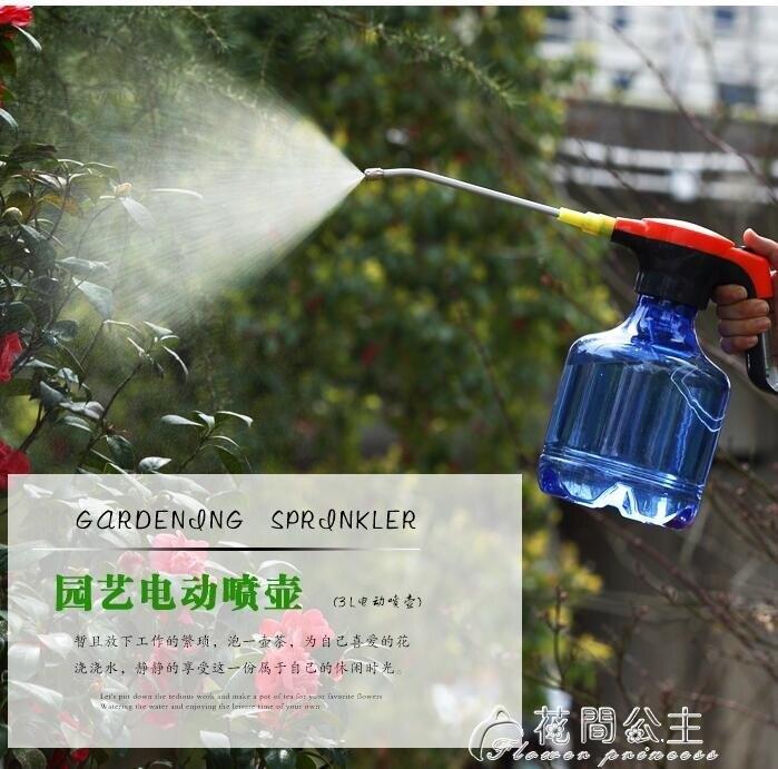 噴水壺-多功能電動噴霧器園藝澆花噴壺家用小型高壓噴水壺 大容量3L 聖誕節禮物