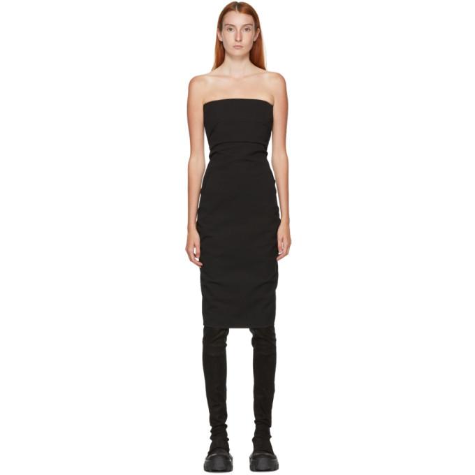 Rick Owens 黑色抹胸连衣裙